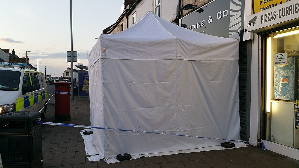 The incident had taken place just outside the local Indian Takeaway on Ayr's busy Main Street on Saturday night.