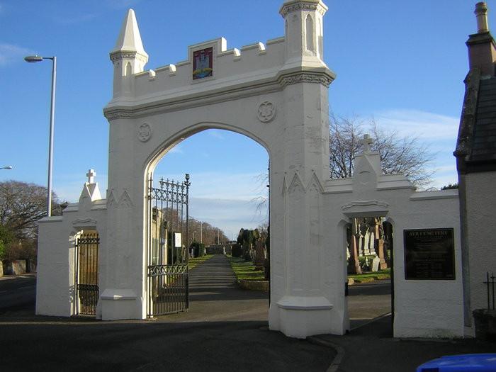 Ayr Cemetery Enterance