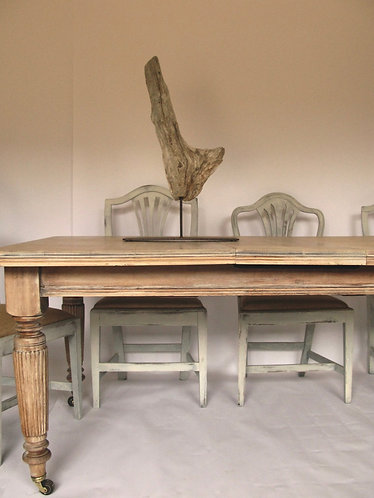 Antique white washed/oak extending dining Table