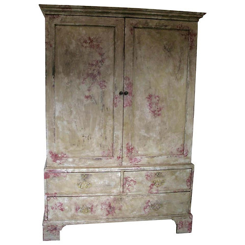 Antique Georgian Linen Press,Cupboard 1810-1820