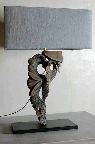 lamp with soft tone linen lampshade