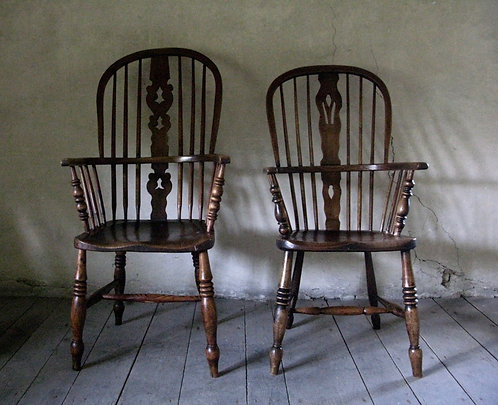 A pair forAntique Windsor chairs