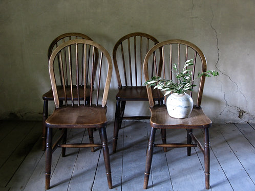 4 antique Windsor chairs