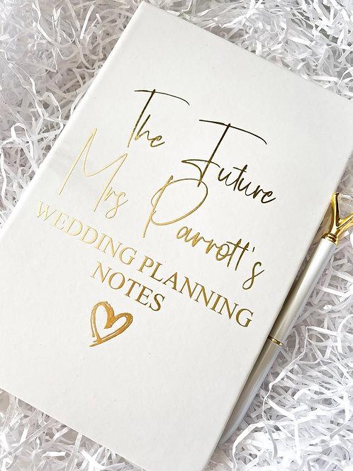 Personalised Wedding Notepad