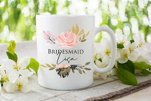 Gold Blush Wedding Mug