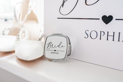 Personalised Sophia Heart Wedding Mirror