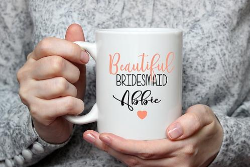 Personalised Beautiful Wedding Mug