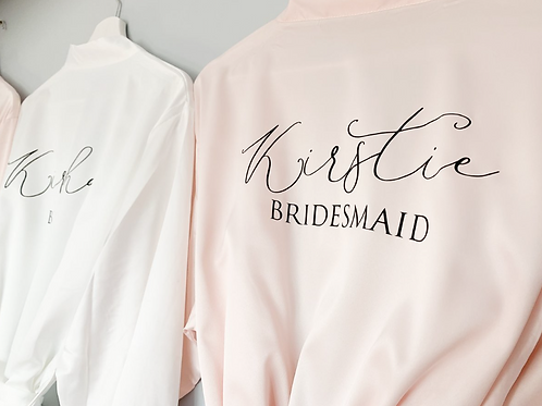 Lottie Satin Lace Personalised Robe