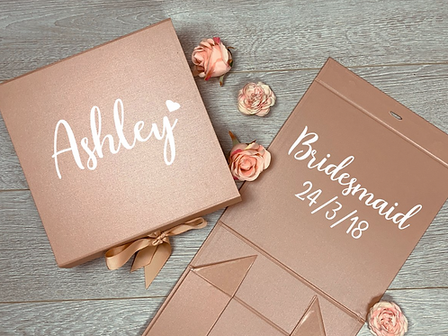 Personalised Medium Gift Box Inside and Outside Text
