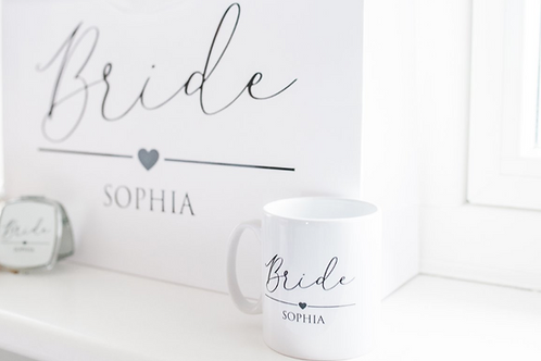 Sophia Heart Wedding Mug
