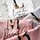 Thumbnail: Gold Blush Satin Lace Personalised Robe