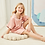 Thumbnail: Childrens Sophia Satin Piped Pyjama Short Set With Metallic Text