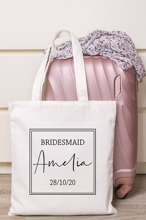 Personalised Tote Bag Metallic Text