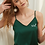 Thumbnail: Monogrammed Heart Satin Ruffle Cami Set Metallic Text