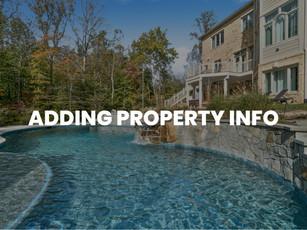 Adding Property Info