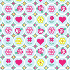 Flower and heart grid.