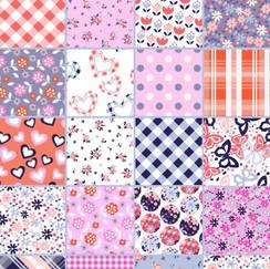 Girls patchwork print design