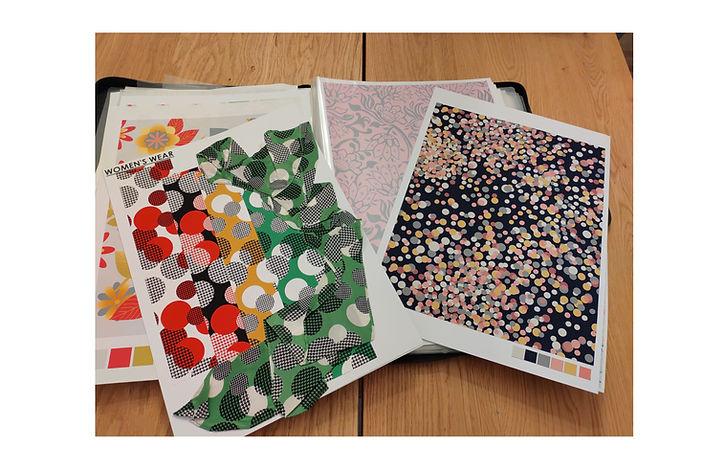 Portfolio of textile designs
