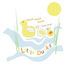Little ducks childrens'graphic.