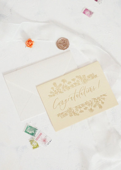 Calligraphy Congratulations Card