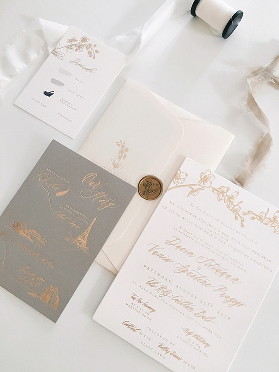 Foil Pressed on Card Stock