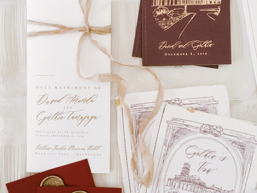 Cynthia Tan & David Wedding Stationeries