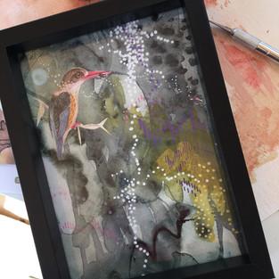 Heron collage