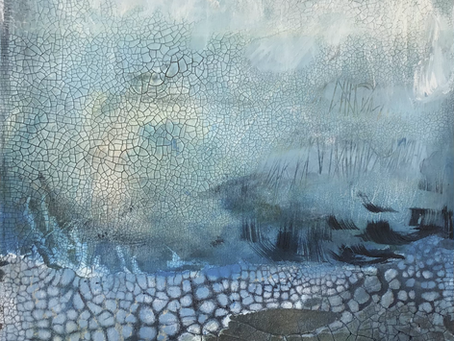 Recent textured paintings and a bit about me...