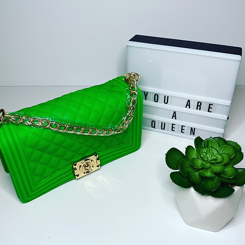 Lime Green Jelly Purse