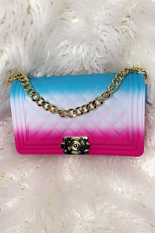 Pink/Blue Jelly Purse