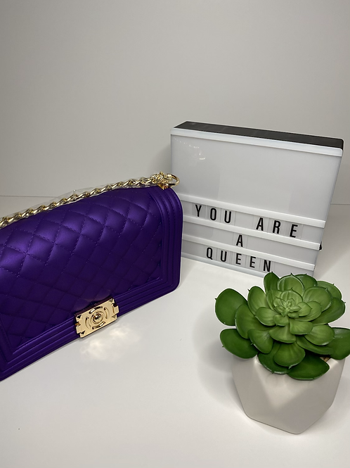 Purple Jelly Purse