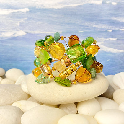Amber and Green Bracelet