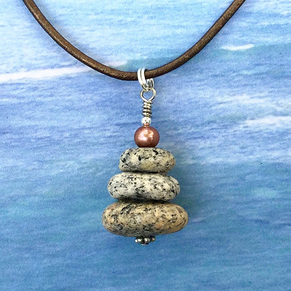 3 Speckled Stones and a Copper Pearl