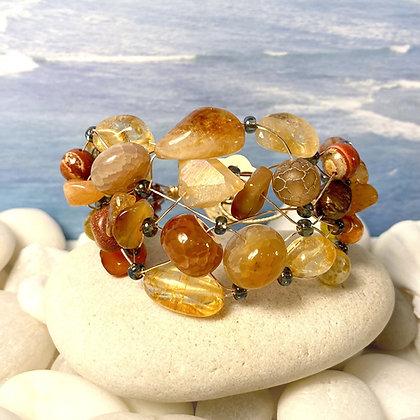 Amber Light Gemstone bracelet