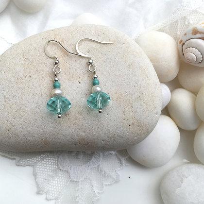 Aqua Reflection Earrings