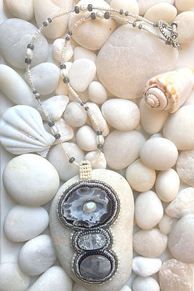 Grey Fossil Necklace