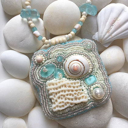Freeform Sea Splash Necklace