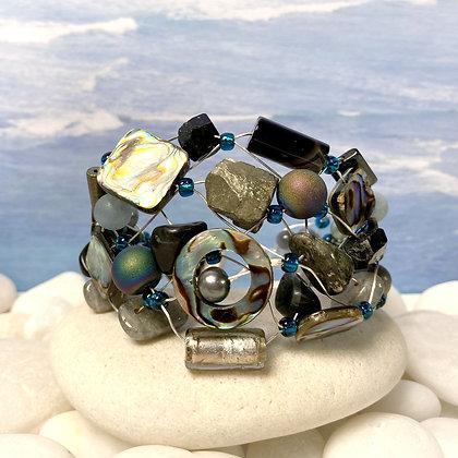 Abalone Gemstone Bracelet