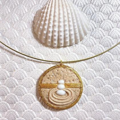 Trinity White Sand Pendant