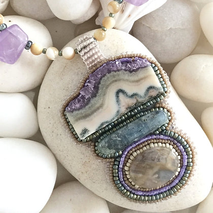 Lilac Power Necklace