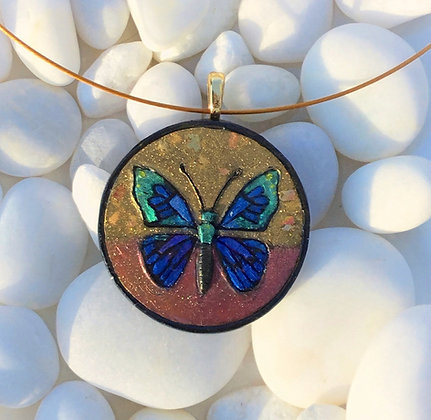 Polymer Clay Butterfly Pendant