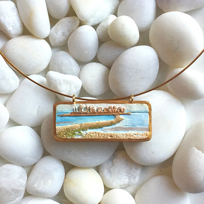 Polymer Clay Charles Island Pendant