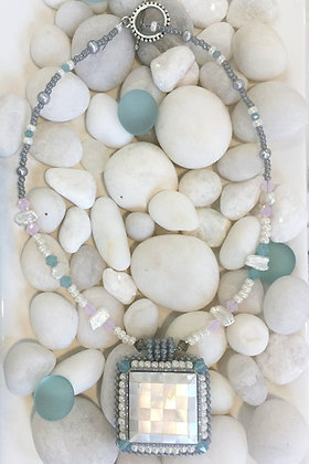 Mosaic Shell Tile Necklace