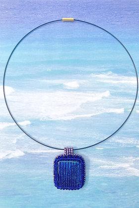 Sparkling Bleu Dichroic Pendant