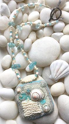 Freeform Sea Splash Necklace