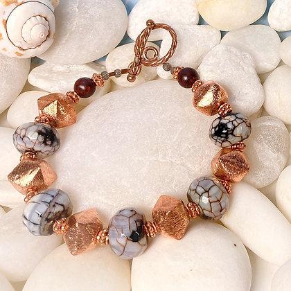 Copper Raku Bracelet