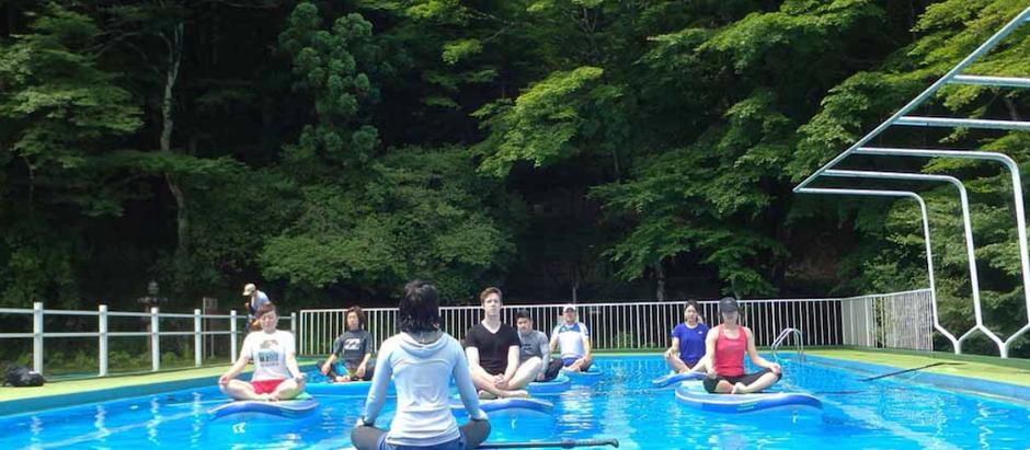 『日光金谷ホテル』竜宮でのSUPヨガ体験イベント。無事終了いたしました!!