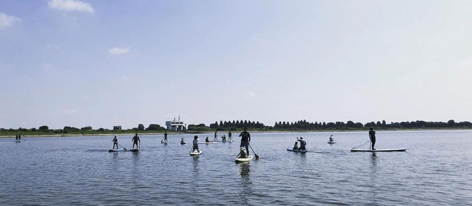 埼玉県加須市 谷中湖で無料SUP体験イベント開催しました