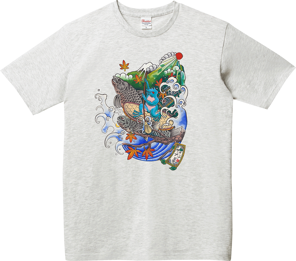 「山と湖とサップ」T Shirts