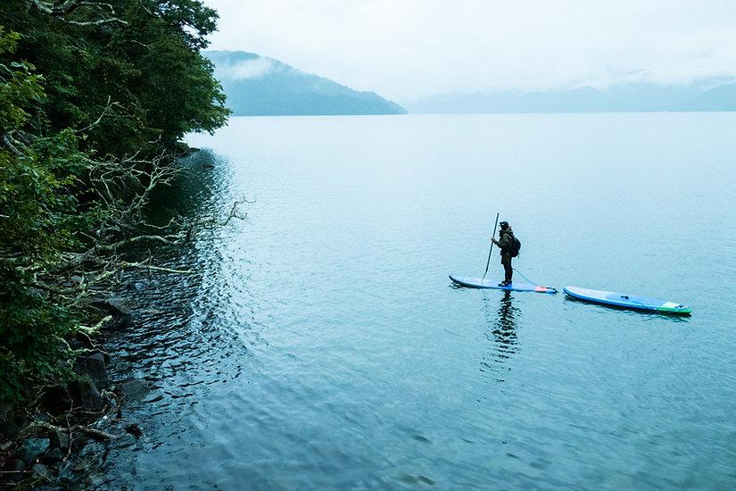 中禅寺湖でのカスタマイズSUPツアー